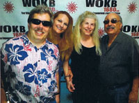 Michael and Lynne Golder, hosts of Blind and Beyond, pose with radio show guests David Hillebrandt and his wife, Brenda.