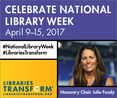 Celebrate National Library Week with Honorary Chair Julie Foudy. #NationalLibraryWeek