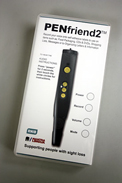 The Penfriend2 is carried by the store and is shown in its attractive packaging.